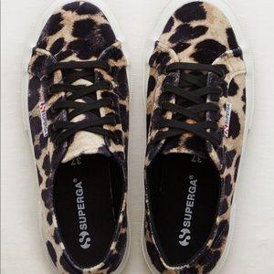 Superga 2750 Leopard Velvet Sneakers 40/9